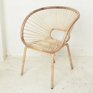 Kade Angular Rattan Armchair in Natural l Pre Order