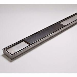 Kado Lux Tile Insert Channel Welded Ends Centre Outlet Satin 1000mm | Reece