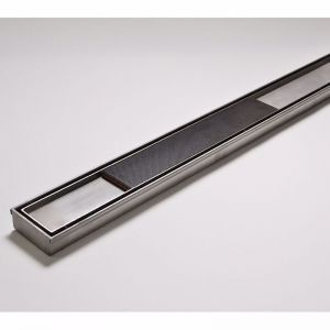 Kado Lux Tile Insert Channel Welded Ends Centre Outlet Satin 1500mm | Reece