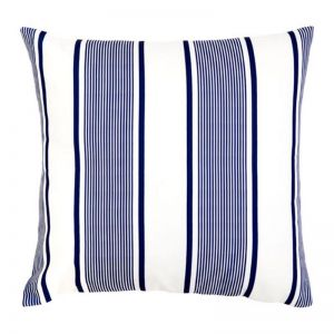 Kai Blue and White Outdoor Cushion | 50x50 cm | Insert Included | Fab Habitat