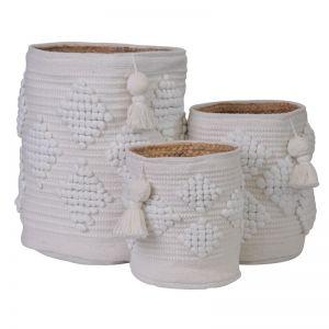 Kai Boho Basket | White | BY SEA TRIBE