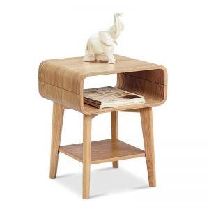 Kaia Bedside Side Table | Ash Veneer