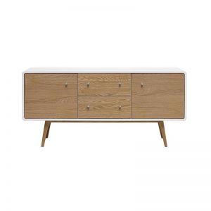 KAISU Sideboard 150cm -  Natural & White