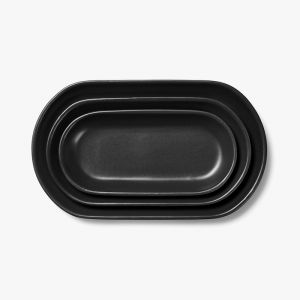 Kali Platter Set of 3 | Graphite by Aura Home