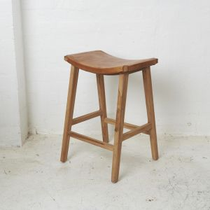 Kalinda Leather Barstool l Custom Made
