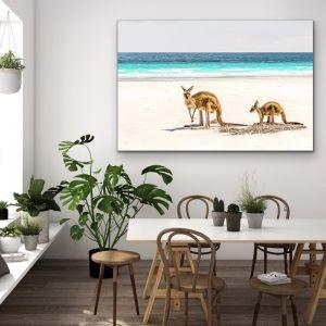 Kangaroo Beach | Wall Art or Canvas Print