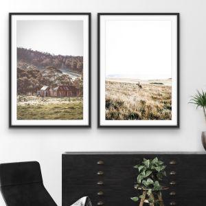 Kangaroo Wild and Blue Mountains | Two Piece Australian Print Set