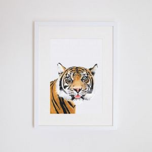 Kartika the Tiger | Giclee Print | by For Me By Dee