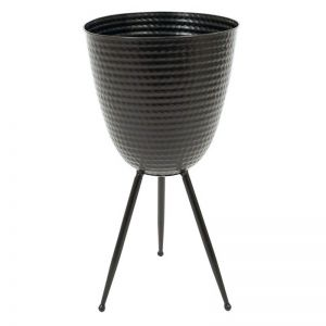 Kate Metal Tripod Planter |54cm| Black