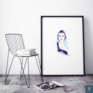 Kate Moss by ANDLIZZY | Unframed Print