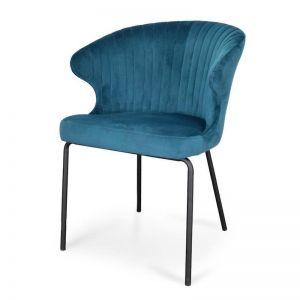 Kayla Dining Chair - Turquoise Velvet