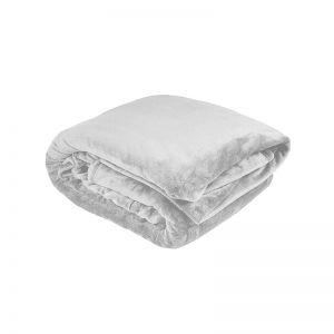 Ultraplush Blanket Silver   King Bed