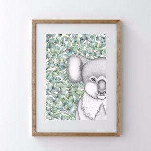 Kenneth the Koala   Art Print