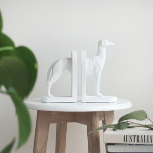 Kenny Dog Bookends | White