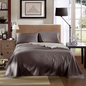 Kensington 1200TC Cotton Sheet Set In Stripe | Charcoal