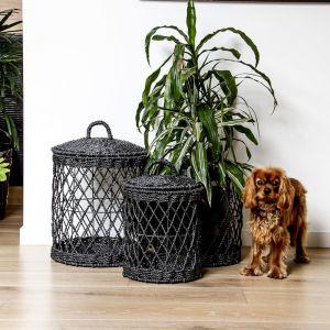 Ketba Basket   Set of 3   Black or white by SATARA