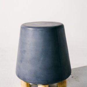 Kevin Concrete Stool by Nood Co | Copan Blue