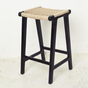 Khairi Woven Outdoor Barstool - Black l Pre Order