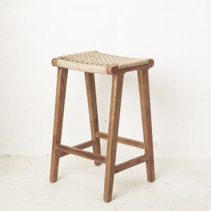Khairi Woven Outdoor Barstool l Custom Made