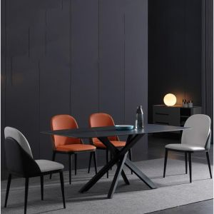 Kiana Stone Dining Table | 180Cm | Black