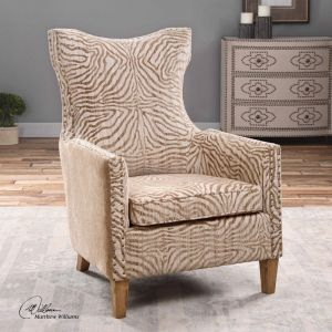 Kiara Armchair | Natural Stripe