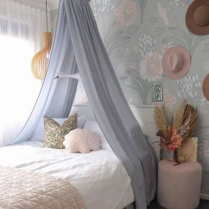 Kids Room and Nursery Drape Canopy | Grey