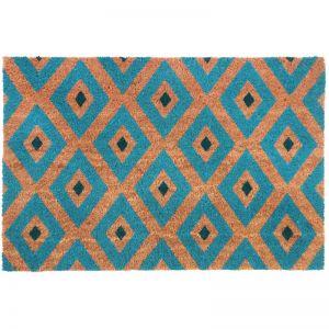 Kimberley Blue Doormat | Coir & PVC Backing