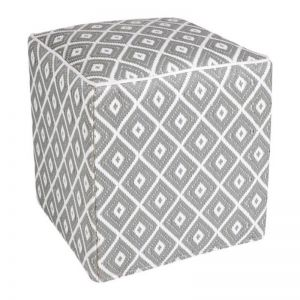 Kimberley Grey | Indoor-Outdoor Ottoman | Fab Habitat