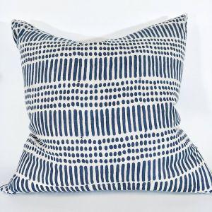 Kimpton Block Print Heavy-Weight Cushion | Pure Linen