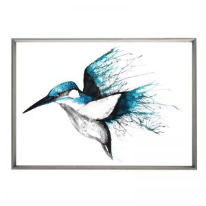 Kingfisher Flourish | Framed Print