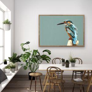 Kingfisher- Turquoise Australian Bird Canvas And Art Print