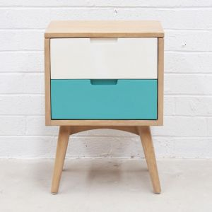 Kiruna 2 Drawer Nightstand | Bedside Table