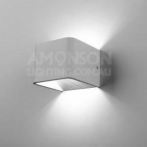 Knightor LED Wall Light   Black, White   240V   Warm White