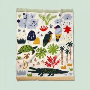 Knit Blanket   Beach Forest