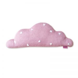 Knitted Cloud Cushion by Homely Creatures | Medium | Pink