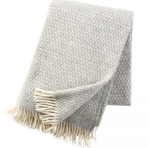 Knut Wool Blanket   Light Grey