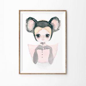 Koala Belle Art Print   Various Sizes