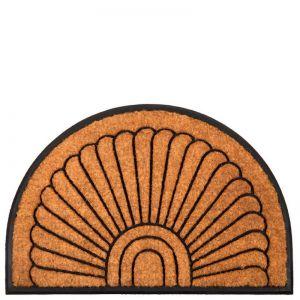 Kochi Half Round Rubber | 60 x 90 cm | Coir Doormat
