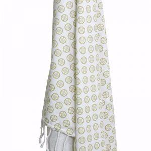 Koel Round Turkish Towel | Chartreuse