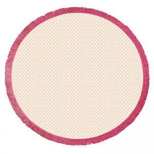 Koel Round Turkish Towel | Orange/Pink