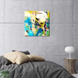 Koi Flowers | Canvas Print By United Interiors