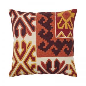 Kokam Embroidered Cushion | by Weave Home