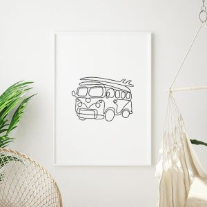 Kombi | VW Art Print | Framed or Unframed