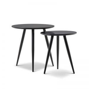 Komma Nested Side Tables | Black