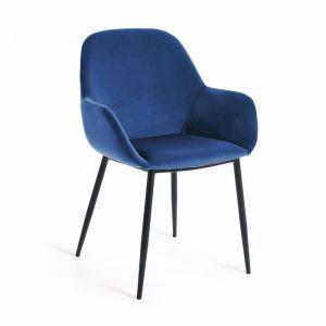 Konna Armchair | Blue Velvet