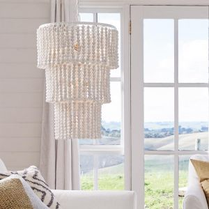 Koralky 6 Light Tier Chandelier in White Wash