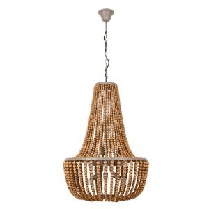 Koralky 8 Light Pendant in Natural   By Beacon Lighting