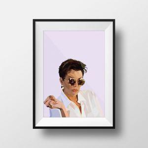 Kris Jenner   Art Print   Framed and Unframed