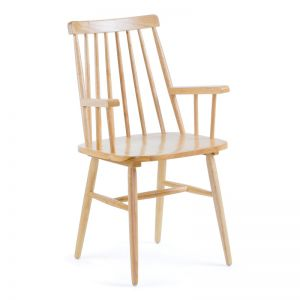 Kristie Timber Armchair | Natural