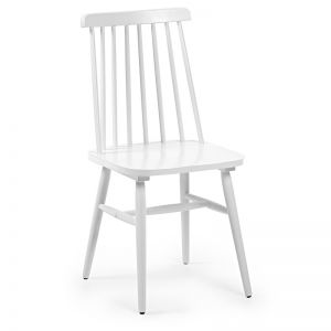 Kristie Timber Chair | White